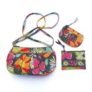 Vera Bradley 3pc Jazzy Blooms Crossbody Bag Set